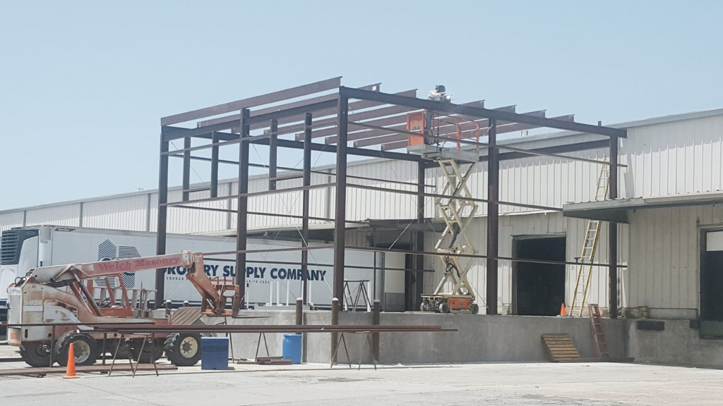 Grocery Supply Company, Inc. steel erection