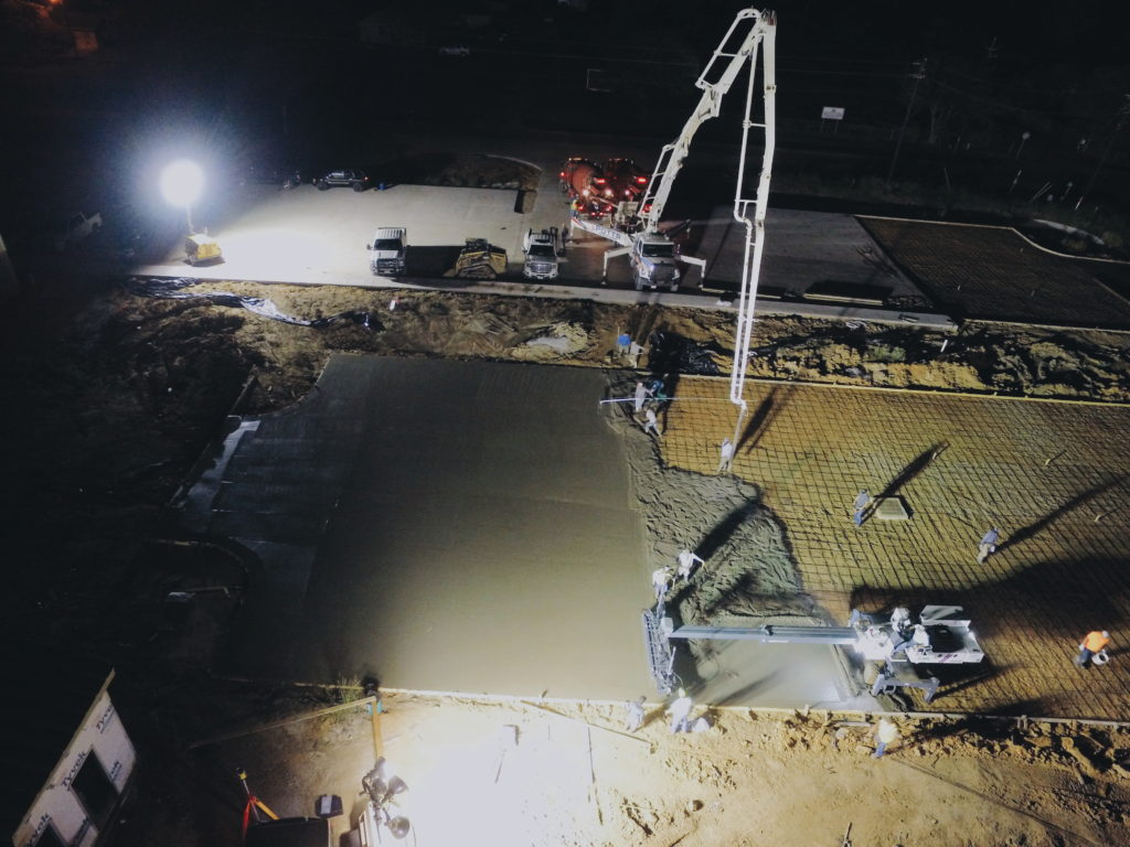 Paving Pour for Load Trail project